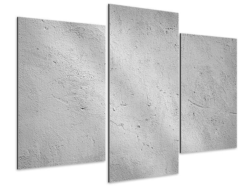 Aluminiumbild 3-teilig modern Beton