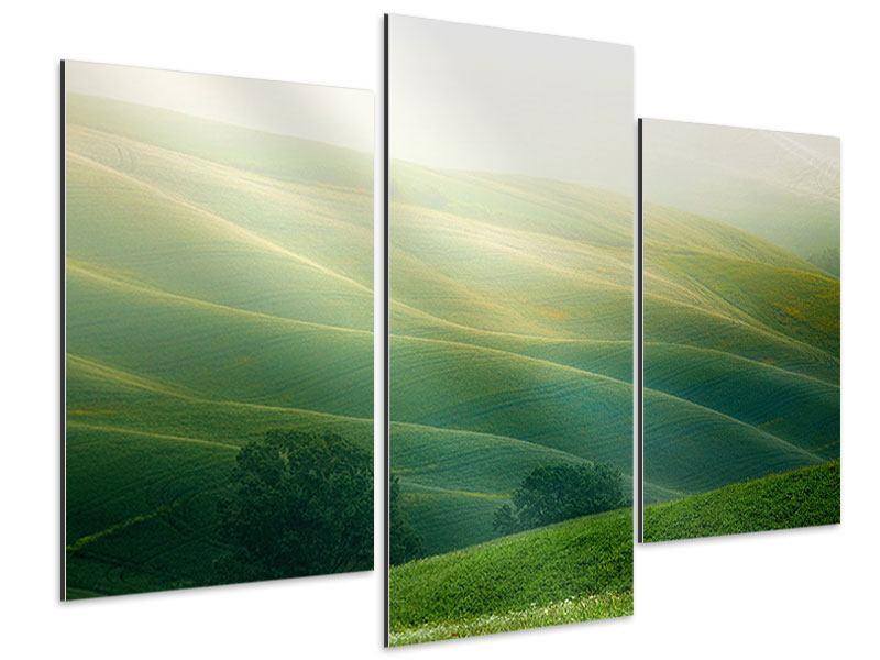 Aluminiumbild 3-teilig modern Toskana