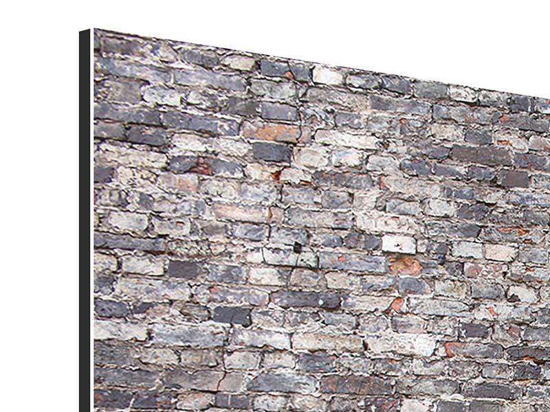 Aluminiumbild 3-teilig modern Alte Backsteine