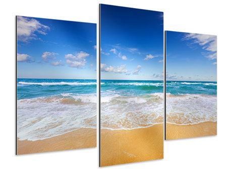 Aluminiumbild 3-teilig modern Die Gezeiten und das Meer