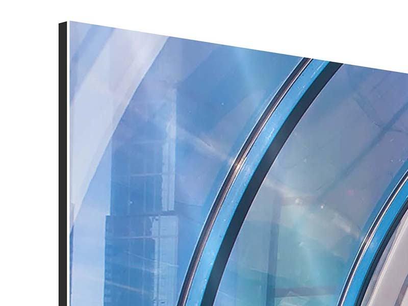 Aluminiumbild 3-teilig modern Hypermoderne Brücke