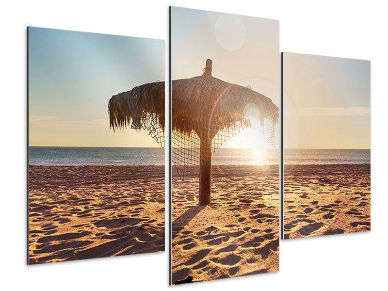 Aluminiumbild 3-teilig modern Der Sonnenschirm