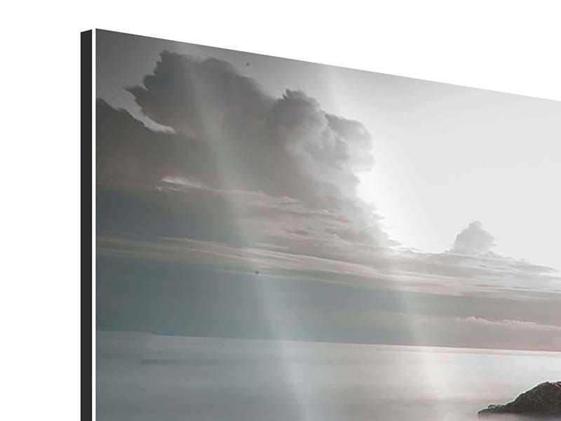 Aluminiumbild 3-teilig modern Steine am Strand