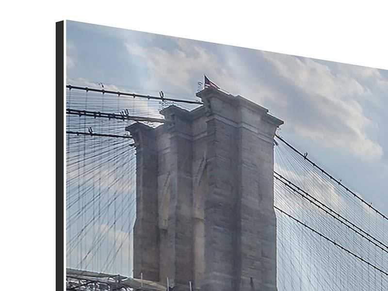 Aluminiumbild 3-teilig modern Brooklyn Bridge