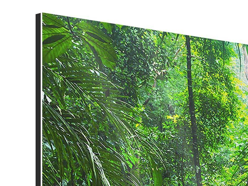 Aluminiumbild 3-teilig modern Wasserfall Agua Azul