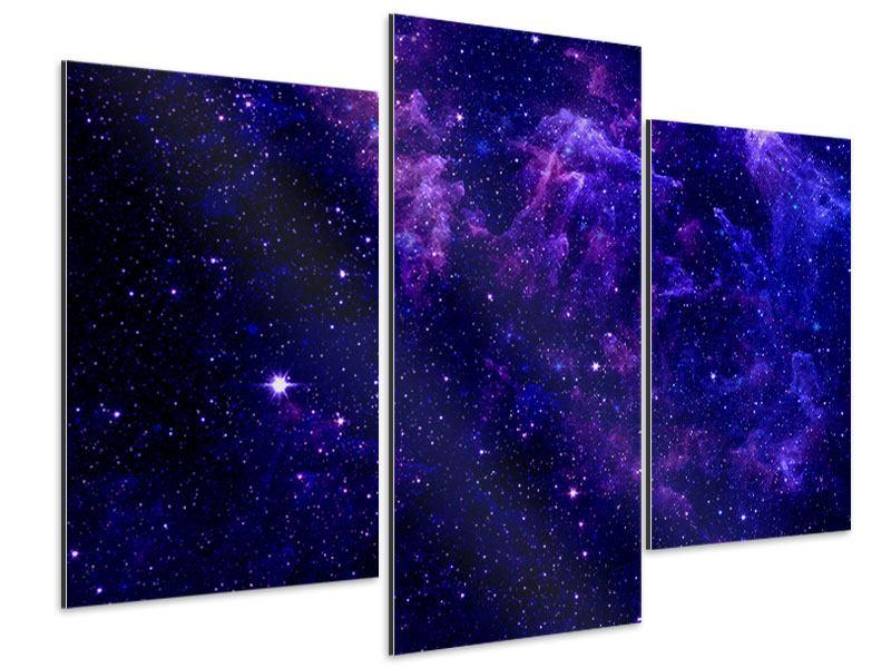 Aluminiumbild 3-teilig modern Ein Himmel voll Sterne