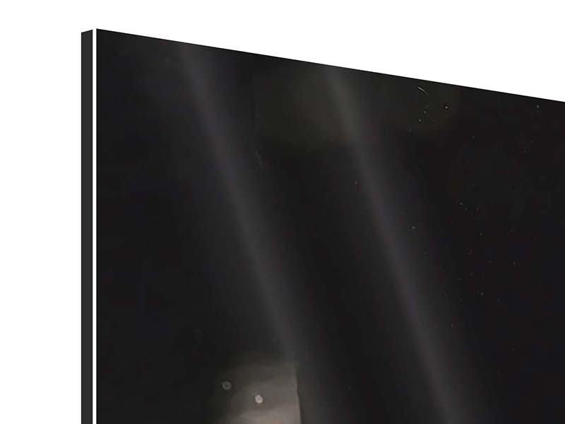 Aluminiumbild 3-teilig modern Cognac