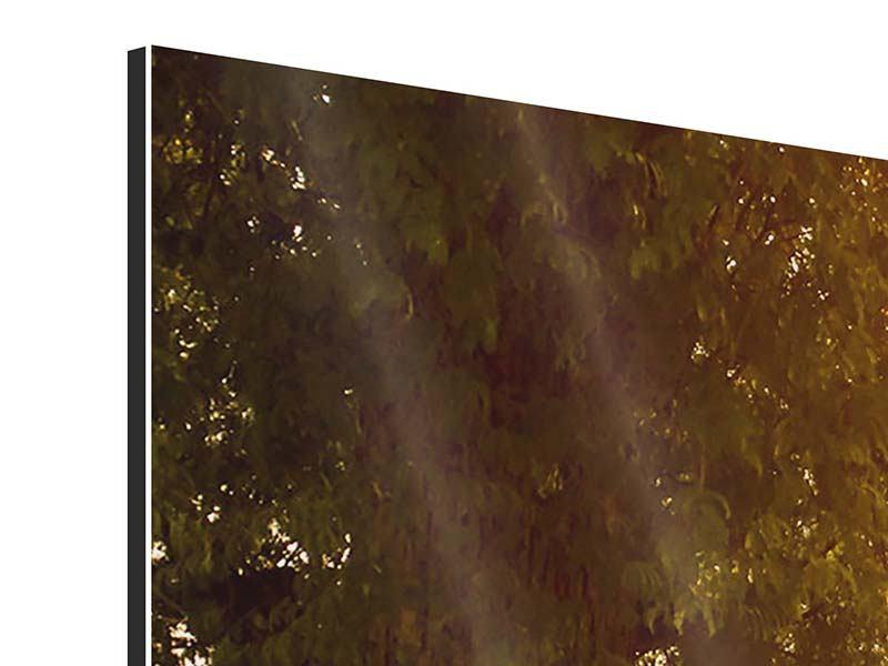 Aluminiumbild 3-teilig modern Romantik unter Bäumen