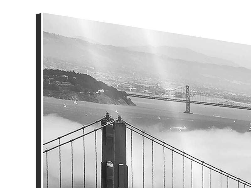 Aluminiumbild 3-teilig modern Golden Gate Brücke