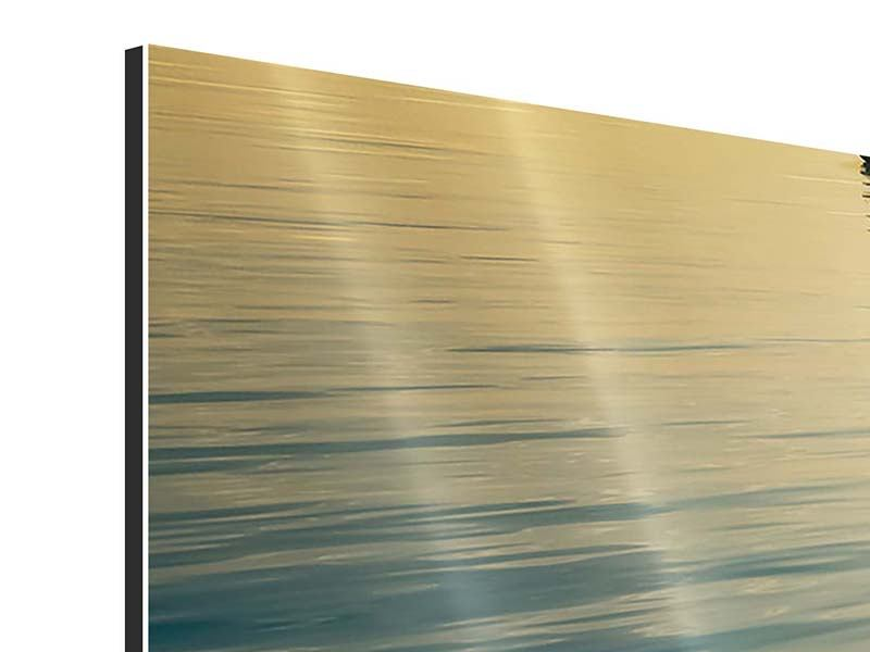 Aluminiumbild 3-teilig modern Der Weg ist das Ziel