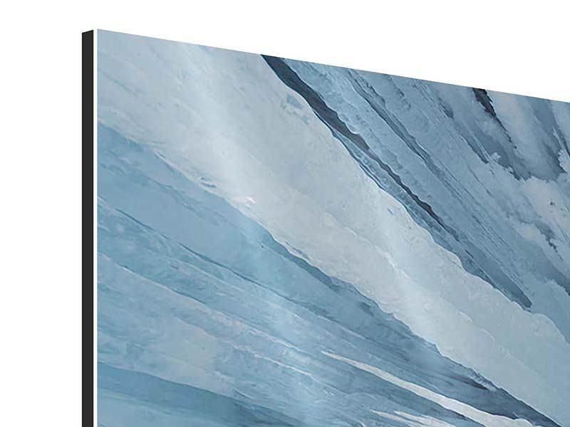 Aluminiumbild 3-teilig modern Eiskunst