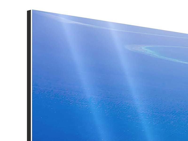 Aluminiumbild 3-teilig modern Reif für die Trauminsel