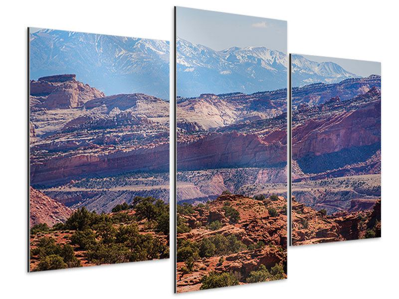 Aluminiumbild 3-teilig modern Bruce-Canyon-Nationalpark