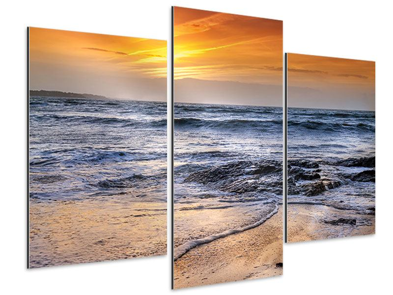 Aluminiumbild 3-teilig modern Das Meer