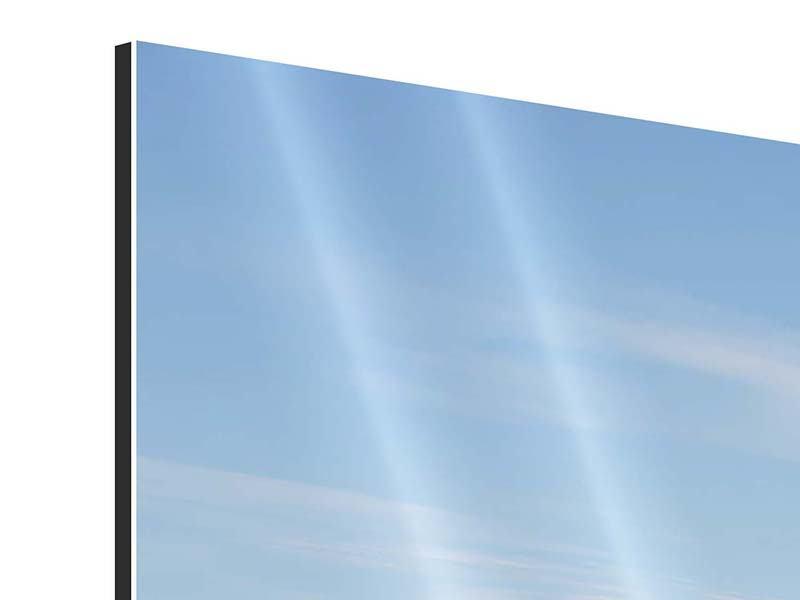 Aluminiumbild 3-teilig modern Hafenmauern