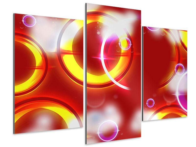 Aluminiumbild 3-teilig modern Abstraktes Retro