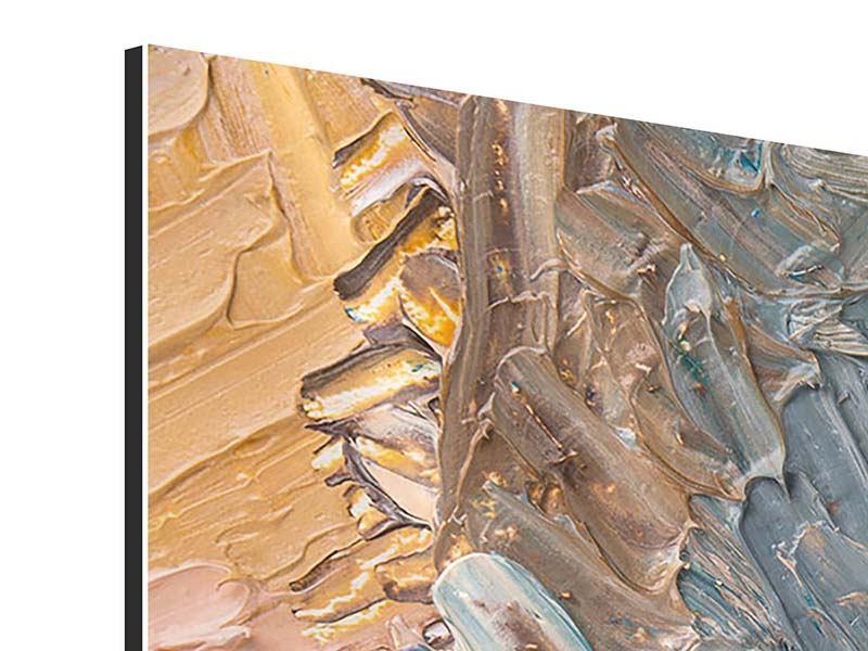 Aluminiumbild 4-teilig modern Ölgemälde