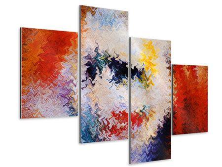 Aluminiumbild 4-teilig modern Wandmalerei