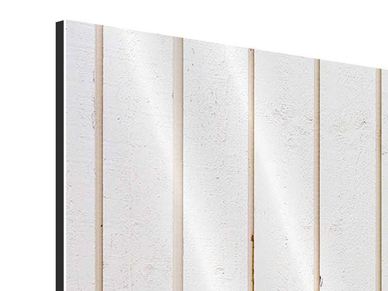 Aluminiumbild 4-teilig modern Mediterranes Holz