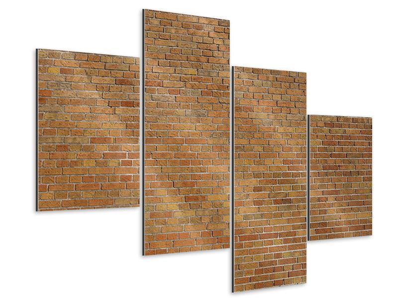 Aluminiumbild 4-teilig modern Backsteinhintergrund