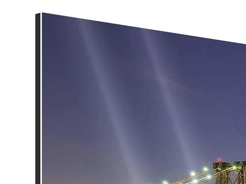 Aluminiumbild 4-teilig modern Skyline NY Williamsburg Bridge