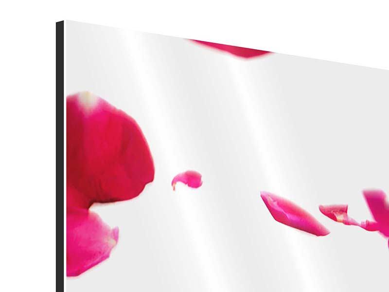 Aluminiumbild 4-teilig modern Für mich soll`s rote Rosen regnen