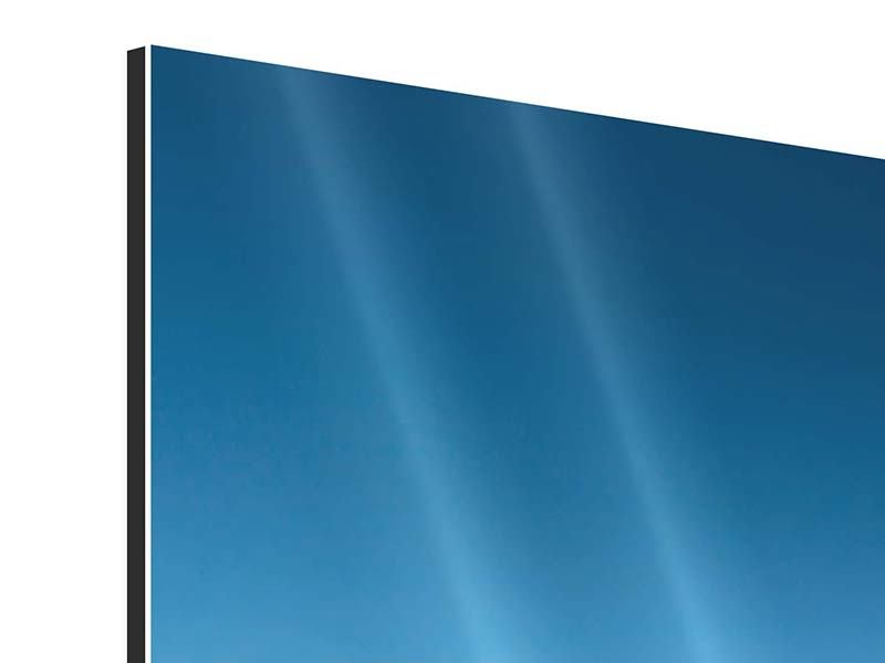 Aluminiumbild 4-teilig modern Das Meer und Jules Verne