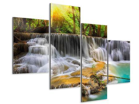 Aluminiumbild 4-teilig modern Nationalpark Si Nakharin