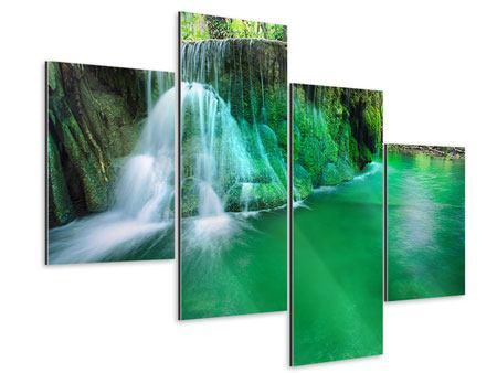 Aluminiumbild 4-teilig modern Im Paradies