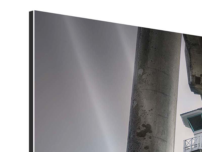 Aluminiumbild 4-teilig modern Brückenpfeiler
