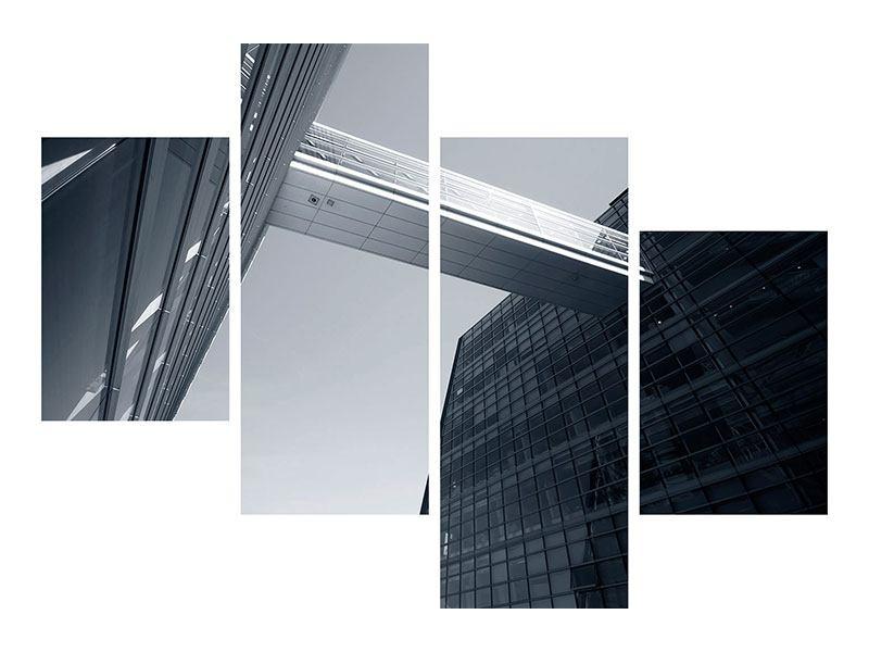 Aluminiumbild 4-teilig modern Der schwarze Diamant Kopenhagens