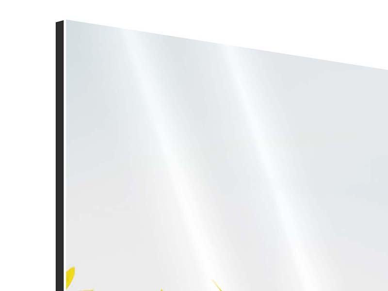 Aluminiumbild 4-teilig modern Im Sonnenblumenfeld