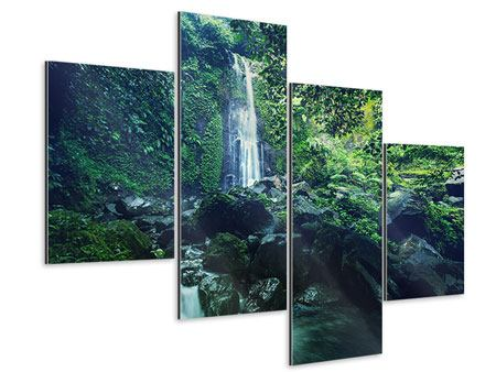 Aluminiumbild 4-teilig modern Natur