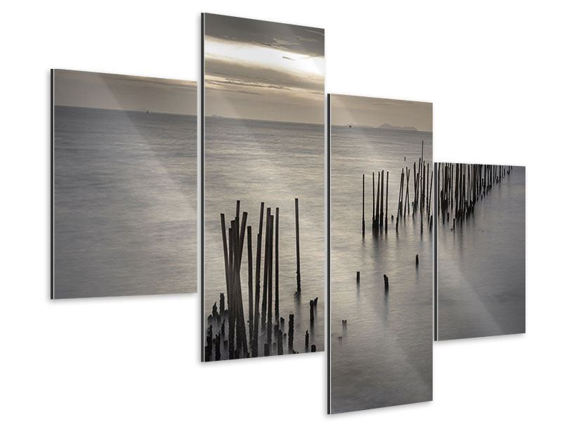Aluminiumbild 4-teilig modern Das Meer und die Träne