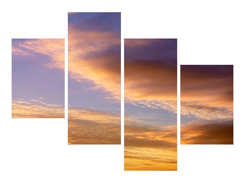 Aluminiumbild 4-teilig modern Himmlisch