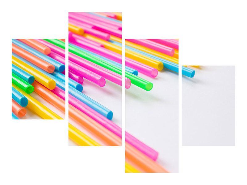 Aluminiumbild 4-teilig modern Pop Art