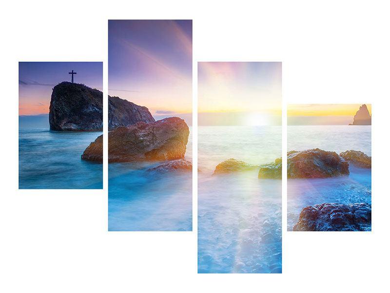 Aluminiumbild 4-teilig modern Mystisches Meer