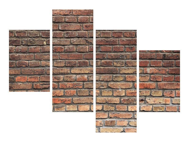 Aluminiumbild 4-teilig modern Brick Wall