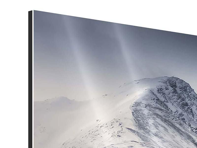 Aluminiumbild 4-teilig modern Die Berge der Schweiz