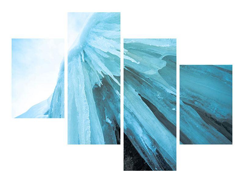 Aluminiumbild 4-teilig modern Die Eiswand