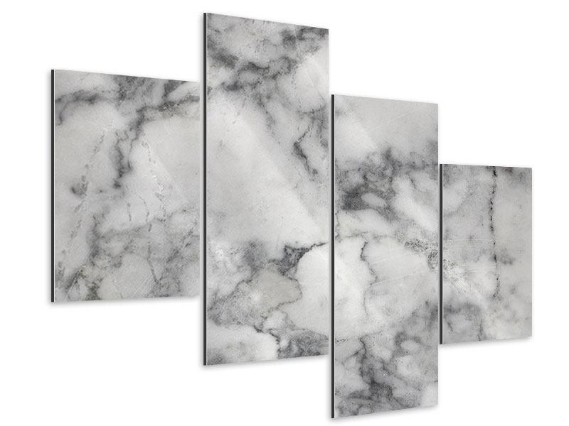 Aluminiumbild 4-teilig modern Klassischer Marmor