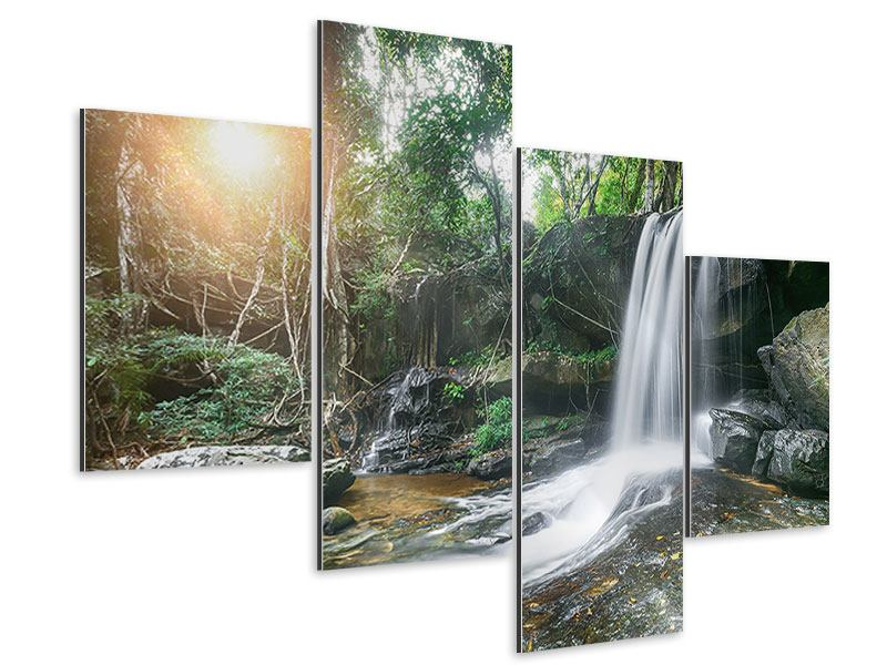 Aluminiumbild 4-teilig modern Naturschauspiel