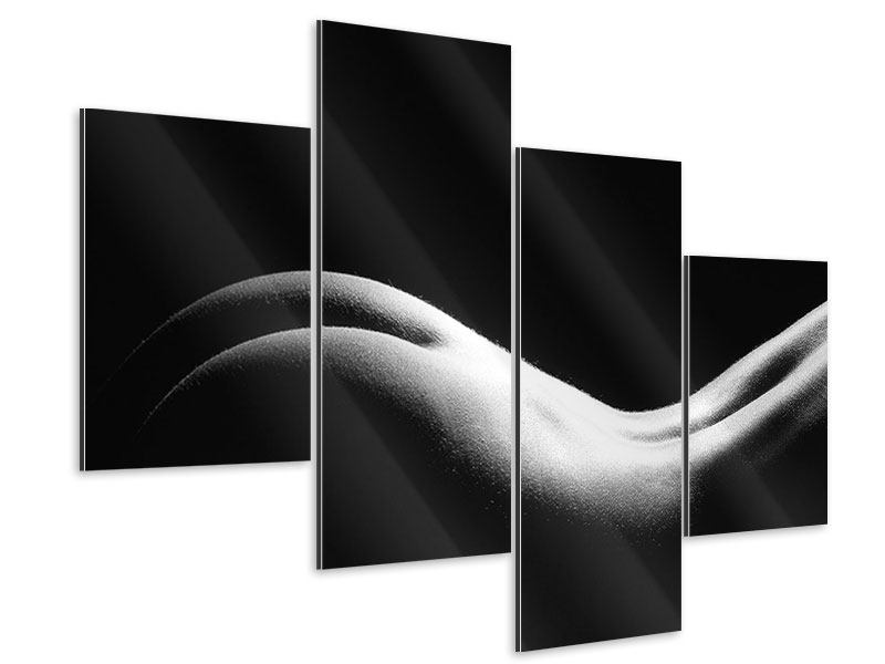 Aluminiumbild 4-teilig modern Nude