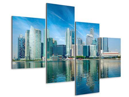 Aluminiumbild 4-teilig modern Skyline Mexiko-Stadt