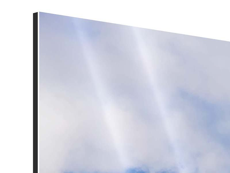 Aluminiumbild 4-teilig modern Der stille Berg