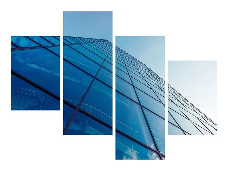 Aluminiumbild 4-teilig modern Wolkenkratzer-Highlight