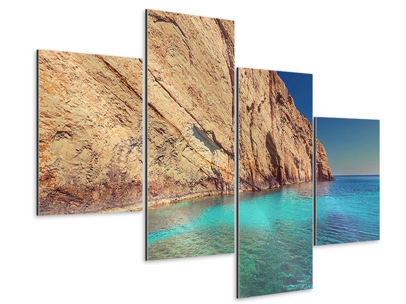 Aluminiumbild 4-teilig modern Wasser