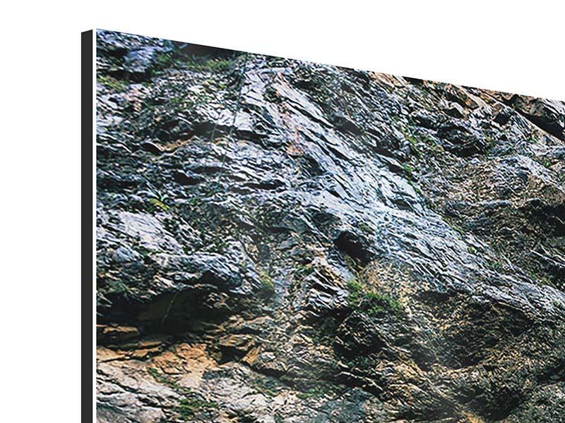 Aluminiumbild 4-teilig modern Bewegtes Wasser