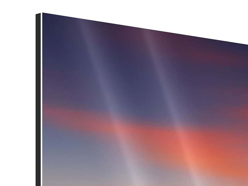 Aluminiumbild 4-teilig modern Märchenhafte Landschaft