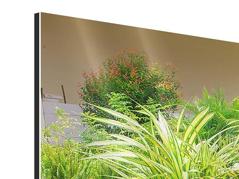 Aluminiumbild 4-teilig modern Paradiesgarten